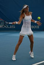 Daniela Hantuchova at the 2009 Brisbane International2.jpg