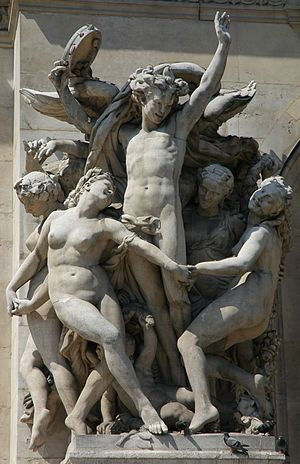 La Danse (Carpeaux) - La Danse on the façade of the Paris Opera