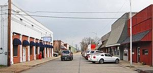 Dardanelle, Arkansas - Historic downtown Dardanelle, February 2009