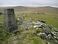Dartmoor, Cox Tor Triangulation Pillar - geograph.org.uk - 1011978.jpg