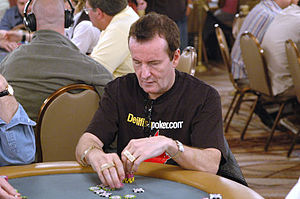 Dave Ulliott - Dave Ulliott wears a T-shirt advertising his website at the 2006 World Series of Poker.
