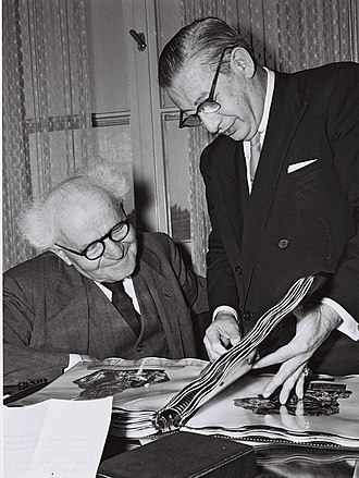Billy Rose - Billy Rose (standing) visiting David Ben-Gurion in 1960
