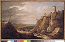 David Teniers - Berglandschap met veehoeder, vee en ruïnes - NK1526 - Cultural Heritage Agency of the Netherlands Art Collection.jpg
