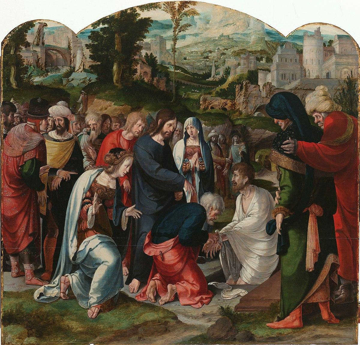 Картинки по запросу raising of lazarus painting