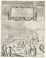 De zeilwagen van Simon Stevin (linkerplaat), 1602 Currus veliferi illustrissimi principis Mauritii volitantes duabus horis Scheverina Pettemum ad quatuordecim milliaria Hollandica, quae singula iustae horae iter excedun, RP-P-OB-80.561A.jpg
