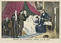 Death of Harrison by Nathaniel Currier, 1841, hand-colored lithograph on paper, from the National Portrait Gallery - NPG-NPG 81 49DeathofHarrison-000002.jpg