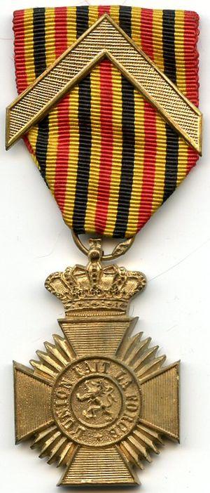 Military Decoration (Belgium) - Image: Deco militaire long service 1st class