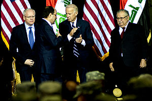 Iraq Commitment Medal - Vice President is awarded the new medal on the  Iraqi government's Day of Commitment in 2011.