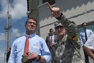Ash Carter - Carter at the demilitarized zone separating North and South Korea
