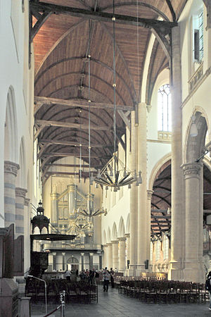 Oude Kerk (Delft) - Interior of the church