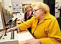 Denise Robertson opens Durham railway station information office 3.jpg