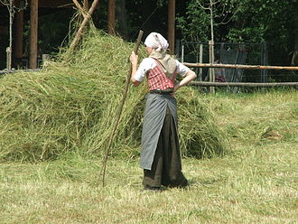 The Funen Village - An employee in traditional costume