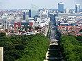 Depuis la Basilique vers le Boulevard Léopold II et le Quartier Nord - Zoom 5 X - panoramio.jpg