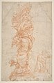 Design for the Decoration of a Pilaster (recto); Putti with Trophies and Seated Figure with Child (verso) MET DP811186.jpg