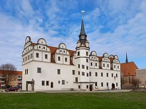 Anhalt-Dessau - Johannbau, preserved west wing of Dessau Castle
