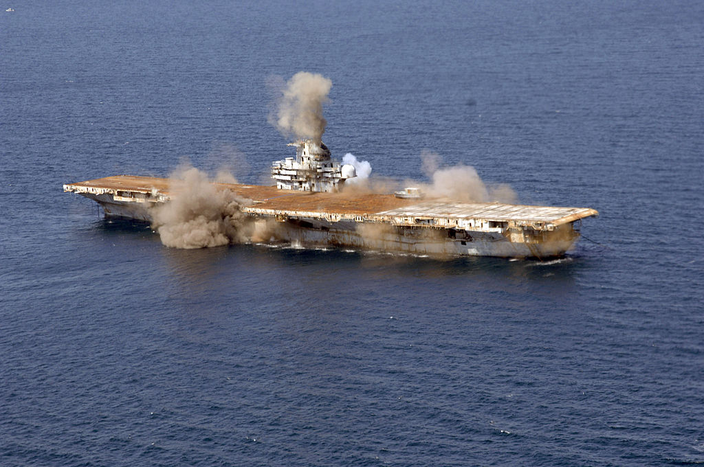 Detonations aboard the USS Oriskany