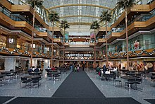 The Wintergarden Was Added To Renaissance Center In 2001 Along With Retail S And Restaurants