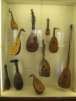 Nice & old small Lute, prim/ tambura or guitar? golden plated ...
