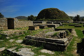 Gandharan Buddhism - The Dharmarajika Stupa and ruins of surrounding monasteries