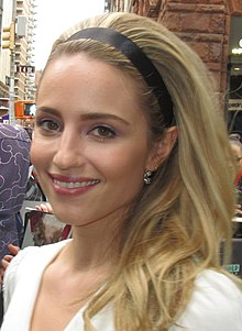 Dianna Agron with a bouffant hair style