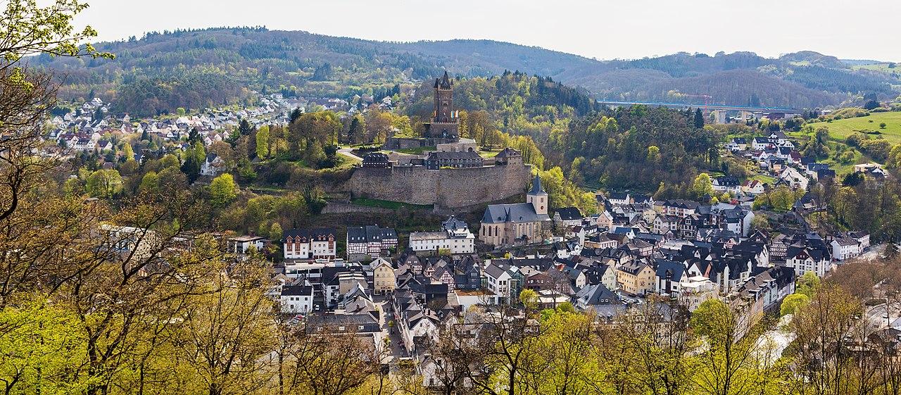 Blick auf Dillenburg aus Richtung Osten
