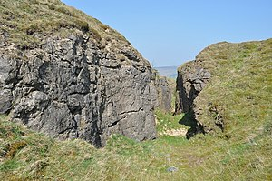 Derbyshire lead mining history - Dirtlow Rake near Pindale