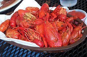 Crayfish as food - Image: Dish of crawdads