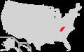 Distribution of Hypericum x mitchellianum.png