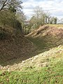 Ditch at Dingestow Castle Mound - geograph.org.uk - 1173220.jpg