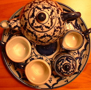 Tea set - Chinese style doll-sized tea set