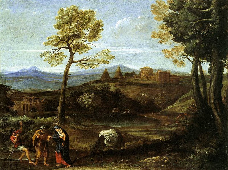 File:Domenichino - Landscape with the Flight into Egypt - WGA06397.jpg