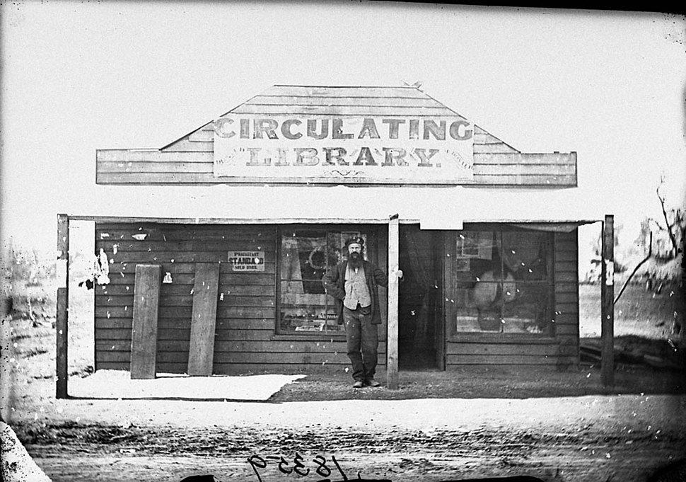 Donald McDonald, stationer, and his Circulating Library, Gulgong, 1870-1875, American and Australasian Photographic Company (5748710857)