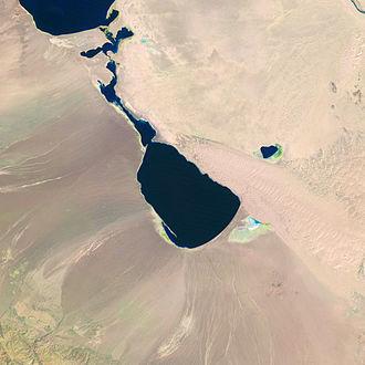 Dörgön Lake - Landsat image