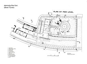 Admiralty Pier Turret - Plan of Admiralty Pier Fort with Dover Turret