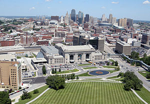 A view of downtown Kansas City, Missouri.