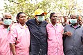 Dr.Kiran Bedi with Sanitation Workers during a cleaning campaign at Puducherry.jpg