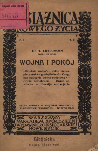 File:Dr H. Lieberman - Wojna i pokój.djvu