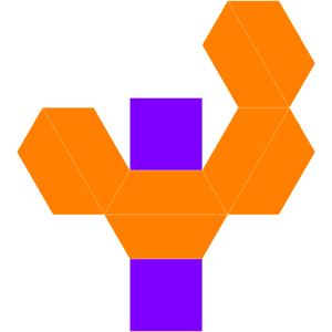 Elongated square bipyramid - Image: Dual elongated square dipyramid net
