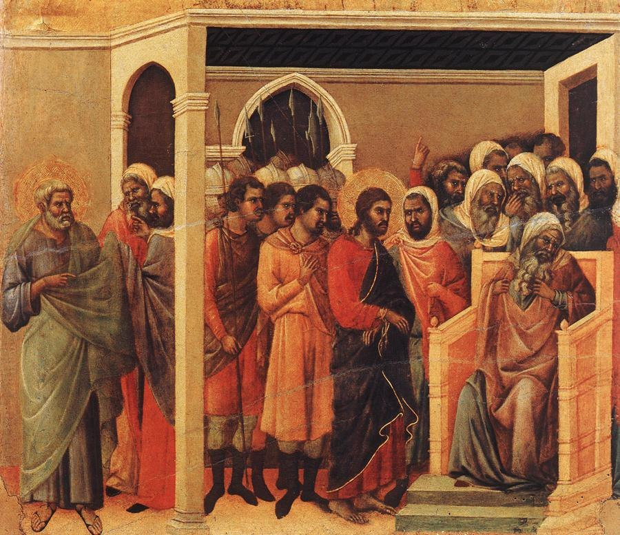 Duccio di Buoninsegna - Christ Before Caiaphas - WGA06797