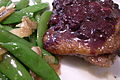Duck Roast with Blueberry Sauce, Side of Snap Peas.jpg