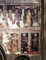 Duomo di trento, interno, resti di affreschi del xiii-xiv secolo 03 crocifissione.jpg