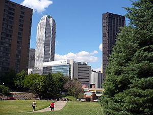 Palumbo–Donahue School of Business - Duquesne University's campus is situated prominently in the Bluff neighborhood of Pittsburgh, Pennsylvania.