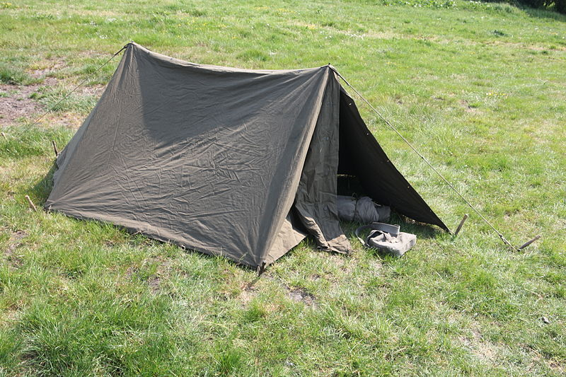 Pup tent photo by Joost J. Bakker. Uploaded to Wikimedia Commons under CC-BY-2.0