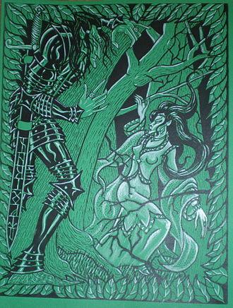 Eöl - Eöl and Aredhel illustration by Tom Loback