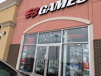 EB Games - An EB Games store in Edmonton, Alberta in February 2017.