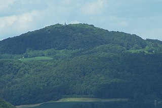 Hülfensberg mountain in Thuringia, Germany
