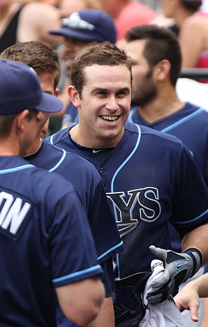 Evan Longoria - Longoria with his teammates