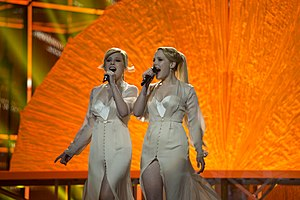 Russia in the Eurovision Song Contest 2014 - The Tolmachevy Sisters at the first semi-final dress rehearsal