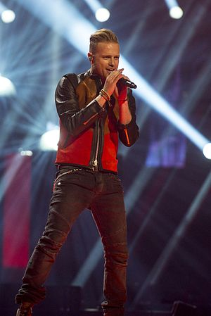 Ireland in the Eurovision Song Contest 2016 - Nicky Byrne during a rehearsal before the second semi-final