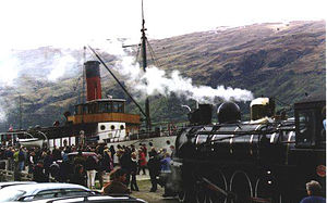 Kingston Flyer - the Kingston Flyer and the TSS Earnslaw at the Kingston Quay